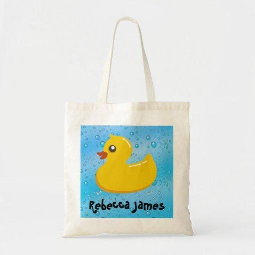 Cute Rubber Ducky/Blue Bubbles Bags