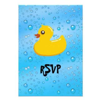 Cute Rubber Ducky/Blue Bubbles Invites