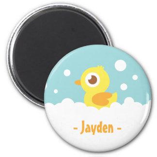 Cute Rubber Ducky in Bubble Bath 6 Cm Round Magnet