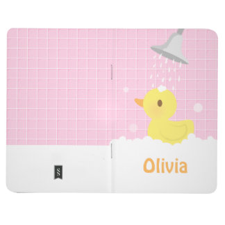 Cute Rubber Ducky in Shower For Girls Journals