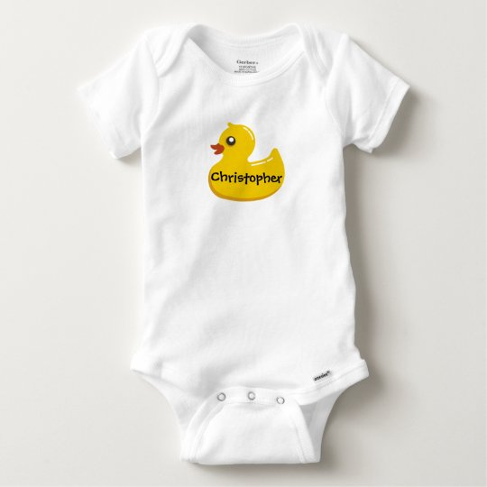 Cute Rubber Ducky Personalised Girl/Boy Baby Onesie