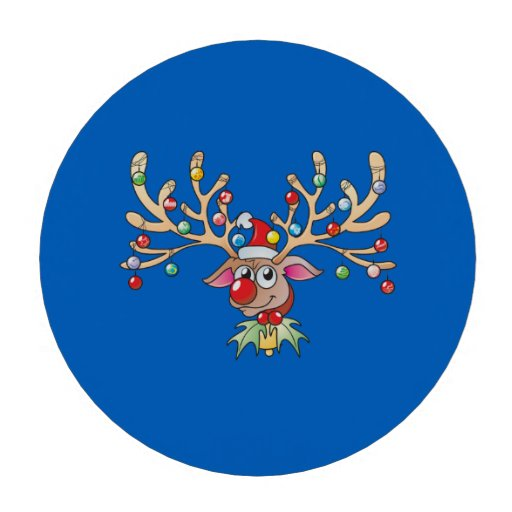 Cute Rudolf Reindeer with Christmas Lights Cards Set Of Poker Chips