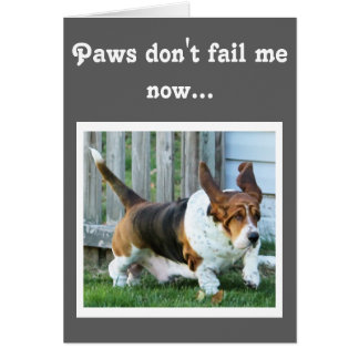 "Cute Running Basset on Funny ""Father's Day"" Card"