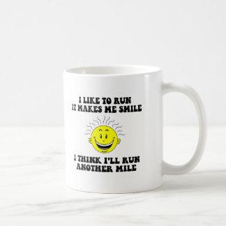 Cute running saying coffee mugs