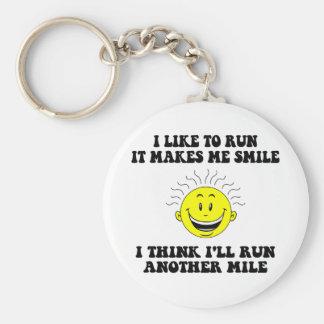 Cute running saying key ring