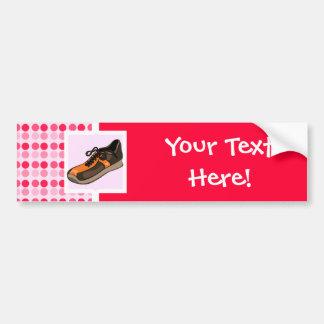 Cute Running Shoe Bumper Sticker
