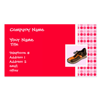 Cute Running Shoe Pack Of Standard Business Cards
