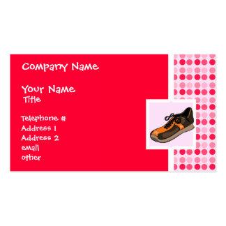 Cute Running Shoe Business Cards