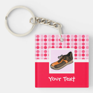 Cute Running Shoe Double-Sided Square Acrylic Keychain