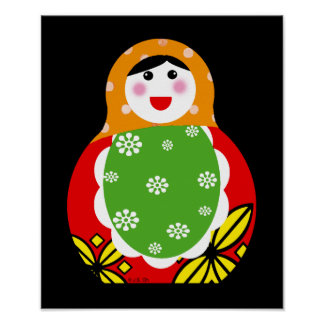 cute Russian nesting doll Poster