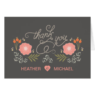 Browse the Rustic Wedding Thank You Cards Collection and personalise by colour, design or style.