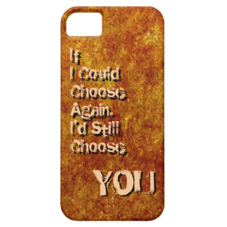Cute rustic texture love quote iPhone 5 case