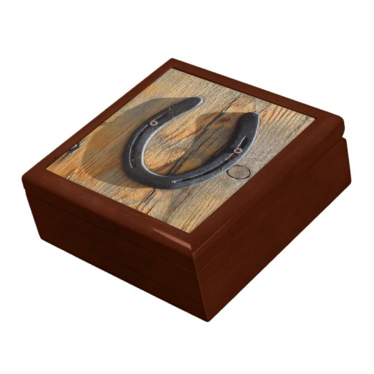 Cute Rustic Western Good Luck Horseshoe Wood Look