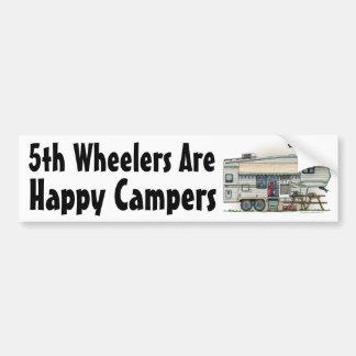 Cute RV Vintage Fifth Wheel Camper Travel Trailer Bumper Sticker