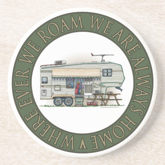 Cute RV Vintage Fifth Wheel Camper Travel Trailer