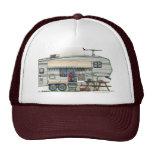 Cute RV Vintage Fifth Wheel Camper Travel Trailer Hats