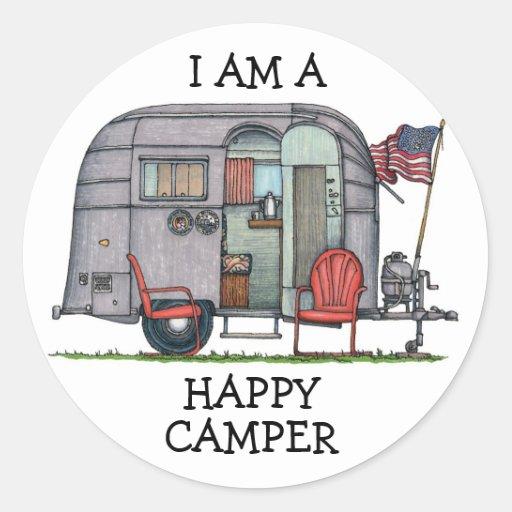 Cute RV Vintage Fifth Wheel Camper Travel Trailer Sticker