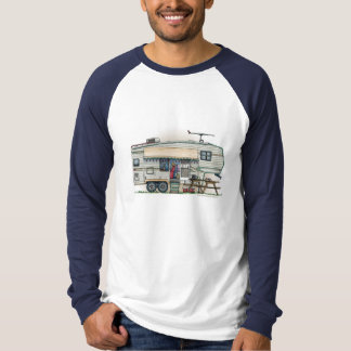 Cute RV Vintage Fifth Wheel Camper Travel Trailer T-Shirt