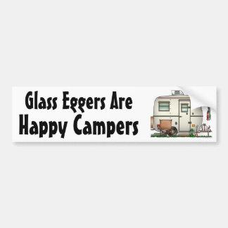 Cute RV Vintage Glass Egg Camper Travel Trailer Bumper Sticker
