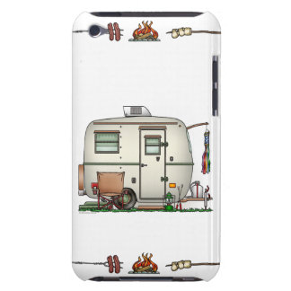 Cute RV Vintage Glass Egg Camper Travel Trailer Barely There iPod Case