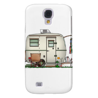 Cute RV Vintage Glass Egg Camper Travel Trailer Galaxy S4 Case