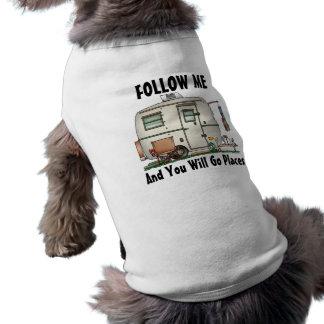 Cute RV Vintage Glass Egg Camper Travel Trailer Sleeveless Dog Shirt