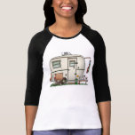 Cute RV Vintage Glass Egg Camper Travel Trailer Tshirt