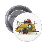 Cute RV Vintage Teardrop  Camper Travel Trailer Button