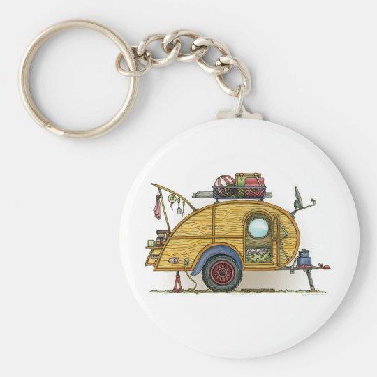 Cute RV Vintage Teardrop Camper Travel Trailer Basic