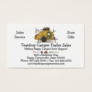 Cute RV Vintage Teardrop  Camper Travel Trailer Business Card