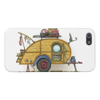 Cute RV Vintage Teardrop  Camper Travel Trailer Case For The iPhone 5