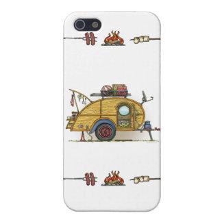 Cute RV Vintage Teardrop  Camper Travel Trailer iPhone 5/5S Case