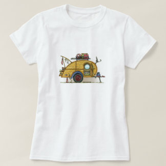 Cute RV Vintage Teardrop  Camper Travel Trailer T-Shirt
