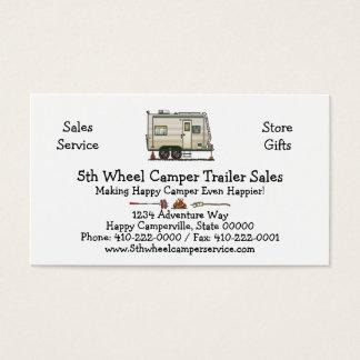 Cute RV Vintage Toy Hauler Camper Travel Trailer Business Card