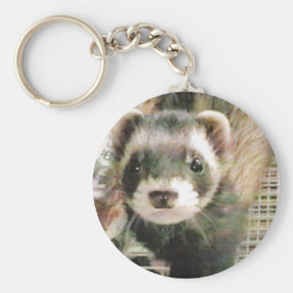 Cute Sable Ferret Key Ring
