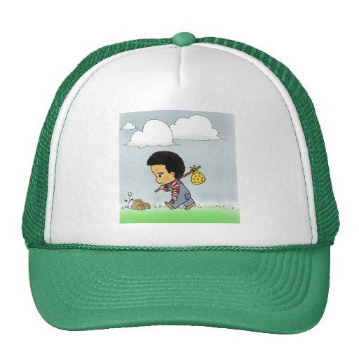 Cute Sad boy Mesh Hats