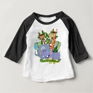 Cute Safari Animals Baby Raglan T-shirt