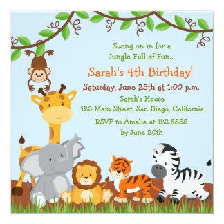 Safari Birthday Invitations Announcements Zazzlecouk