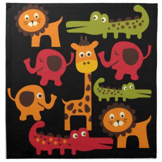 Cute Safari Jungle Zoo Animals Print Gifts Napkin