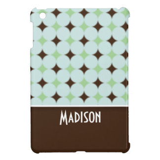 Cute Sage Green & Brown Cover For The iPad Mini