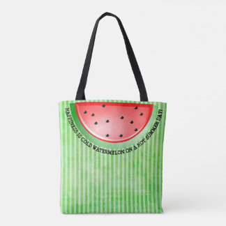 Cute Sage Green Watermelon  Tote Bag