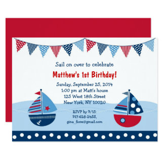 Cute Sailboat Birthday Card