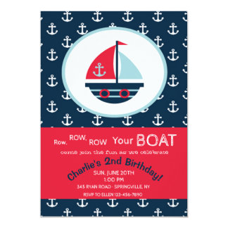 Cute Sailboat Invitation