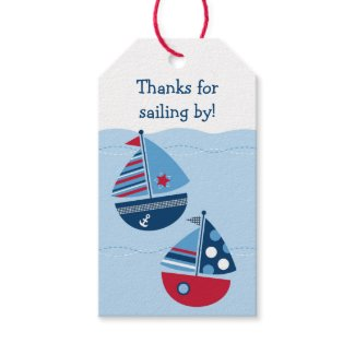 Cute Sailboat Party Favour Tags