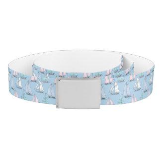 Cute Sailboat Pattern 1 Belt