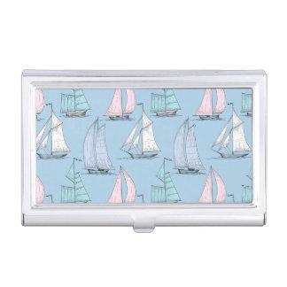 Cute Sailboat Pattern 1 Business Card Holder