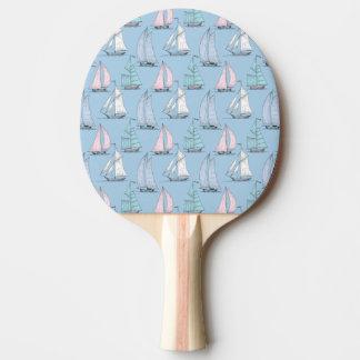 Cute Sailboat Pattern 1 Ping Pong Paddle