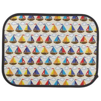 Cute Sailboat Pattern 2 Car Mat