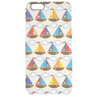 Cute Sailboat Pattern 2 Clear iPhone 6 Plus Case