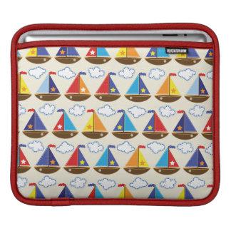 Cute Sailboat Pattern 2 iPad Sleeves
